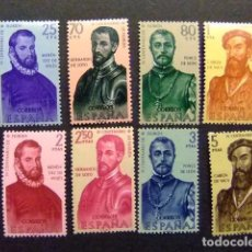 Sellos: ESPAÑA ESPAGNE 1960 CONQUISTADORES DE AMERICA EDIFIL Nº 1298 / 05 ** MNH YVERT Nº 979 /86 **MNH . Lote 66284018