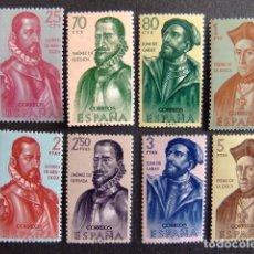 Sellos: ESPAÑA ESPAGNE 1962 CONQUISTADORES DE AMERICA EDIFIL Nº 1454 / 61 ** MNH YVERT Nº 1125 / 32 ** MNH (. Lote 66795534