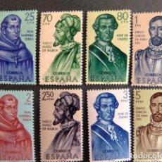 Sellos: ESPAÑA ESPAGNE 1963 CONQUISTADORES DE AMERICA EDIFIL Nº 1526 / 33 ** YVERT Nº 1197 /02 ** MNH . Lote 66807390