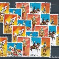 Sellos: R11.BLOCK_03/ ESPAÑA NUEVOS** X4, 1973, EDF. 2139/43, UNIFORMES MILITARES. Lote 67010858