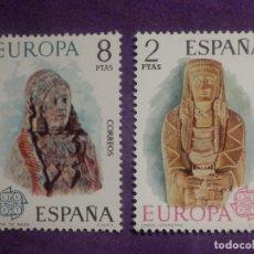 Sellos: SELLO - ESPAÑA - SERIE CEPT - EUROPA - DAMA DE BAZA, OFERENTE - 2 VAL.- EDIFIL 2177, 2178 - AÑO 1974. Lote 206595323