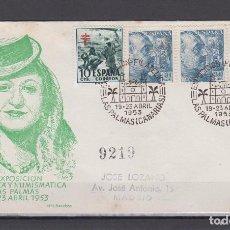 Sellos: 1953.- LAS PALMAS (CANARIAS) A MADRID. Lote 68041033