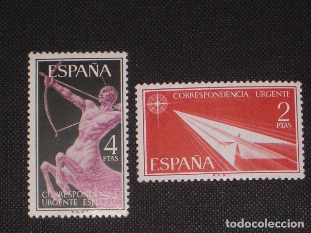USADO - EDIFIL 1185//1186 - SPAIN 1956 ALEGORIAS /M (Sellos - España - II Centenario De 1.950 a 1.975 - Usados)