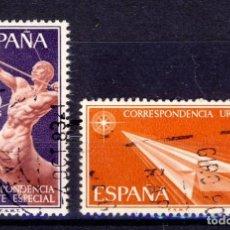 Sellos: 1966.- CORREO URGENTE.- ALEGORÍAS.- ED.1765-66.- (2). Lote 68639929