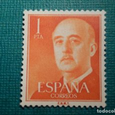 Sellos: SELLO - ESPAÑA - ESTADO ESPAÑOL - GENERAL FRANCO - EDIFIL 1153 - 1955 - 1 PTA. ROJO. Lote 68910137