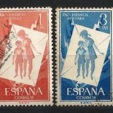 Sellos: ESPAÑA 1956 PRO INFANCIA. Lote 69860809