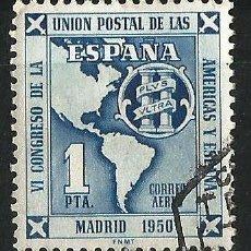Sellos: ESPAÑA 1951 VI CONGRESO DE LA UNIÓN POSTAL DE LAS AMÉRICAS Y ESPAÑA. Lote 70031261