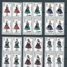 Trajes regionales (regionals costumes) completa en bloque de cuatro. 1967 - 1971. MNH**