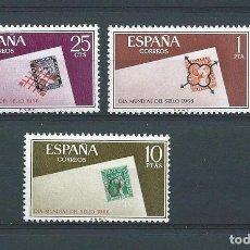 Sellos: ESPAÑA, 1966, DÍA MUNDIAL DEL SELLO, NUEVOS, SERIE COMPLETA. Lote 71514946