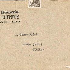 Sellos: 015. CARTA IMPRESOS MADRID 1950. REVISTA LITERARIA NOVELA Y CUENTOS. Lote 71521467