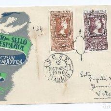 Sellos: CAJA P5/ Cº DEL SELLO ESPAÑOL 1950, EDF. 1079/80, S.P.D.. Lote 71655487