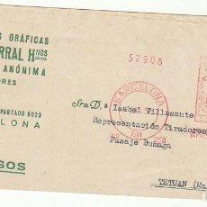 Sellos: FAJA : BARCELONA A TETUAN. 1952.. Lote 71905555