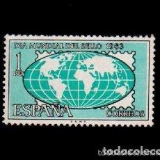 Sellos: ESPAÑA SPAIN AÑO YEAR 1963 EDIFIL Nº 1510 ** MNH - DIA MUNDIAL DEL SELLO - 1 PTA. Lote 195376727