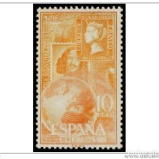 Sellos: ESPAÑA SPAIN AÑO YEAR 1964 EDIFIL Nº 1597 ** MNH - DIA MUNDIAL DEL SELLO - 10 PTAS. Lote 125425578