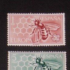 Timbres: NUEVO - EDIFIL 1448/1449 CON FIJASELLOS - SPAIN 1962 MH - EUROPA /M. Lote 143932134