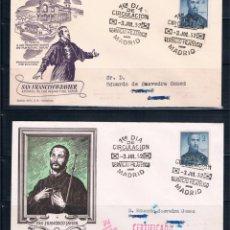 Briefmarken - España. 2 sobres circulados con sellos de San Francisco Javier - 73119279