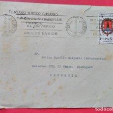 Sellos: CARTA CIRCULADA CON MATASELLOS DE RODILLO. VALENCIA. . Lote 74243911