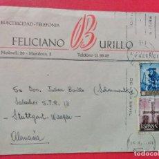 Sellos: CARTA CIRCULADA CON MATASELLOS DE RODILLO. VALENCIA.. Lote 74243939