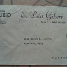 Sellos: CARTA 1955 CIRCULADA A BARCELONA SELLO FRANCO 60 CTS. Lote 74315122