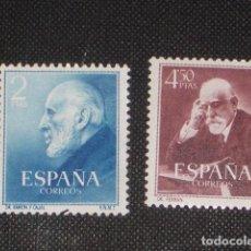 Sellos: NUEVO - EDIFIL 1119/1120 SIN FIJASELLOS - SPAIN 1952 MNH - RAMON Y CAJAL Y FERRAN /M. Lote 74489463