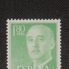 Timbres: NUEVO - EDIFIL 1156 SIN FIJASELLOS - SPAIN 1955/1956 MNH - GENERAL FRANCO /M. Lote 184047545
