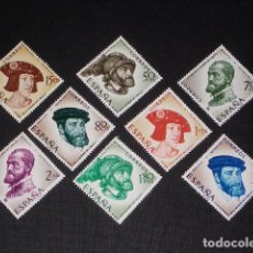 Sellos: NUEVO - EDIFIL 1224/1231 SIN FIJASELLOS - SPAIN 1958 MNH - CARLOS I /M. Lote 105256255