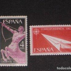 Timbres: NUEVO - EDIFIL 1185/1186 CON FIJASELLOS - SPAIN 1956 MH - ALEGORIAS /M. Lote 157112144