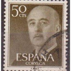 Sellos: ESPAÑA SPAIN AÑO YEAR 1955 EDIFIL Nº 1149 - USADO (O) USED (O) - GENERAL FRANCO - 50 CTS. Lote 195379147