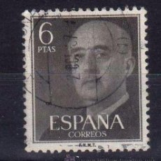 Sellos: ESPAÑA SPAIN AÑO YEAR 1955 EDIFIL Nº 1161 - USADO (O) USED (O) - GENERAL FRANCO - 6 PTAS. Lote 195379278