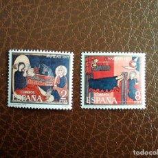 Sellos: ESPAÑA. 2061/62 NAVIDAD: FRAGMENTOS DE LOS ALTARES DE AVIÁ Y S. ANDREU DE SAGARS. 1971. SELLOS NUEVO. Lote 148169093