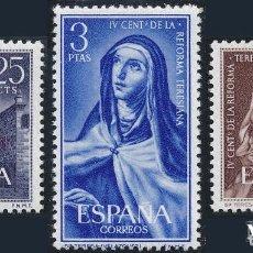 Sellos: 1962 EDIFIL 1428/30** NUEVOS SIN SEÑAL DE FIJASELLOS. REFORMA TERESIANA. Lote 98437819