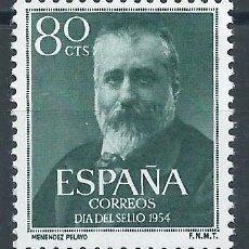 Sellos: TV_001.G1 / ESPAÑA NUEVOS ** 1954, EDF. 1142, CAT. 11,00€, MARCELINO MENENDEZ Y PELAYO. Lote 234798410