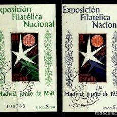 ESPAÑA 1958- EDI 1222/1223 (Serie: Expo-Bruxelas) (Hoja Bloque) usadas