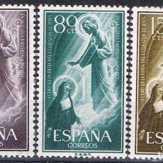 Sellos: 0193. SERIE COMPLETA SAGRADO CORAZON JESUS 1957, EDIFIL NUM 1206 - 1208 **. Lote 76579575