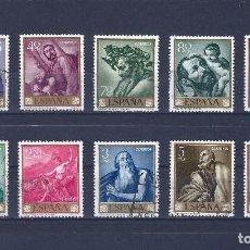 Sellos: EDIFIL 1498-1507 JOSE DE RIBERA -EL ESPAÑOLETO- 1963 (SERIE COMPLETA).. Lote 77316809