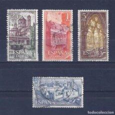 Sellos: EDIFIL 1494-1497 REAL MONASTERIO DE SANTA MARÍA DE POBLET 1963 (SERIE COMPLETA).. Lote 77452457