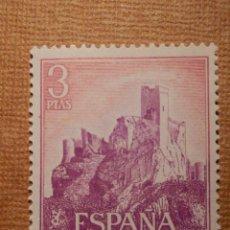 Francobolli: SELLO - ESPAÑA - CORREOS - EDIFIL 1745 - CASTILLOS DE ESPAÑA - ALMANSA - 1966 - 3 PTAS. Lote 236582610