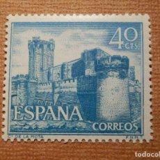Francobolli: SELLO - ESPAÑA - CORREOS - EDIFIL 1740 - CASTILLOS DE ESPAÑA - DE LA MOTA - 1966 - 40 CTS. Lote 236578155