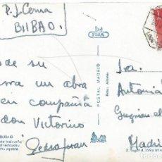 Sellos: MATASELLO AMBULANTE LOGROÑO BILBAO HISTORIA POSTAL SELLO FRANCO 1960. Lote 78424537