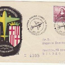 Sellos: CORREO AEREO SIN SOBRETASA : MADRID-BARCELONA .BILBAO. 1954.. Lote 80076829