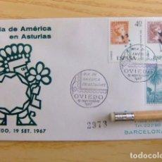 Sellos: FDC ESPAÑA 1967 DIA DE AMERICA EN ASTURIAS 2973. Lote 80360653