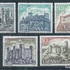 Sellos: R8.V_22/ ESPAÑA NUEVOS /**/ MNH, 1970, EDF. 1977/81, CASTILLOS DE ESPAÑA. Lote 180882165