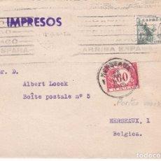 Sellos: F15-79- CARTA IMPRESOS BARCELONA-BELGICA 1945. TASADA. Lote 82254960