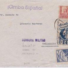 Sellos: F15-11-CARTA EL FERROL-VALLADOLID 1937. FRANQUEO VIÑETAS. . Lote 82317416
