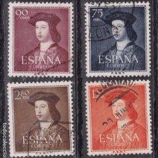 Francobolli: AA28-FERNANDO CATÓLICO EDIFIL 1107-10. USADOS LUJO. Lote 83054972