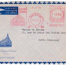 Sellos: F16-53-CARTA FRANQUEO MECÁNICO. BANCO ESPAÑOL DE CRÉDITO 1958. LUJO. Lote 83164628