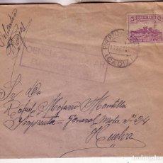 Sellos: F16-34-CARTA PUERTO SERRANO (CÁDIZ)- HUELVA 1938. LOCAL Y CENSURA PUERTO SERRANO. Lote 83236940
