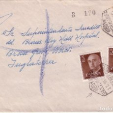 Historia Postal Emisión FRANCO 1955.Carta MADRID -INGLATERRA 1956