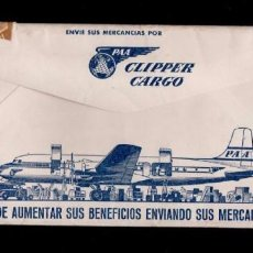 CL4-15 Sobre Publicitario de la PAN AMERICAN - CLIPPER CARGO circulado como IMPRESOS a BARCELONA T