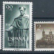 Sellos: R15/ ESPAÑA 1126/28 * MH, 1953, CAT. 25,50€, UNI. SALAMANCA, SEGUN FOTOS. Lote 83571680